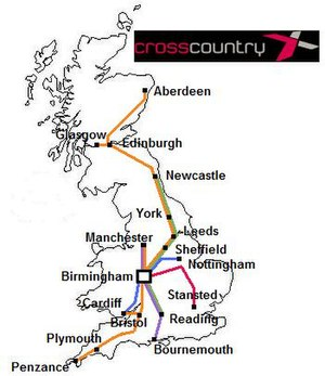 CrossCountry - Route map
