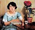 Xu-Beihong-1925-Painting-Jiang-Biwei-by-a-table.jpg