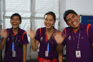 2010 Summer Youth Olympics - Volunteers at the opening ceremony