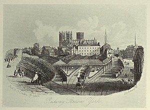George Hudson - The original York station pictured in 1861