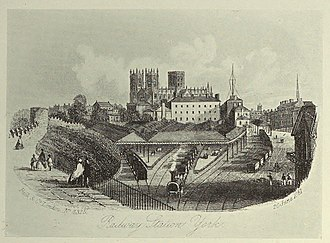 York and North Midland Railway - The original station at York, inside the city walls