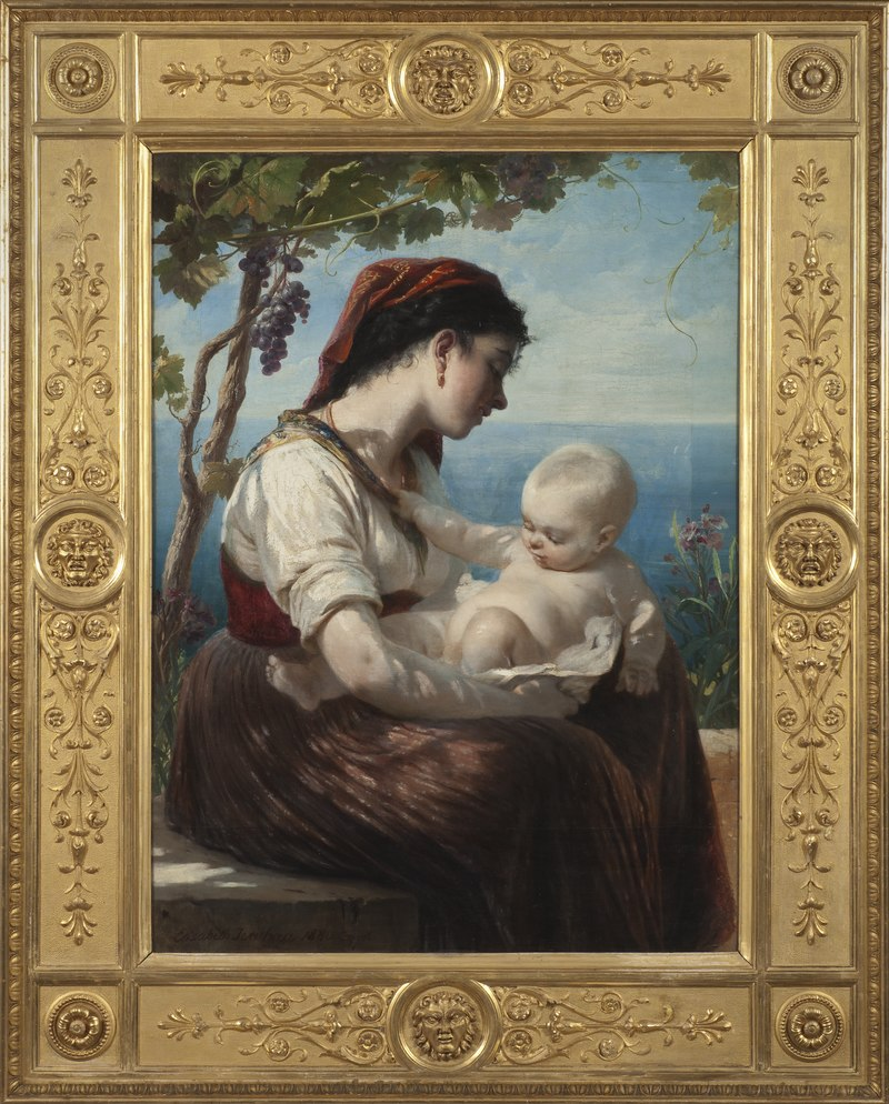 Молодая мать с ребенком (Элизабет Иерихау-Бауманн) - Национальный музей - 18347.tif
