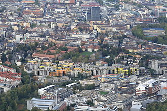 Friesenberg - Werd and Friesenberg (in the foreground) as seen from Uetliberg