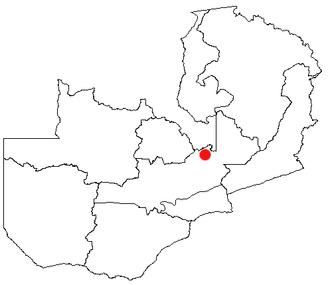 Mkushi - Location of Mkushi in Zambia