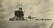Zero launching from a Japanese carrier