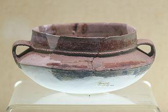 Kuahuqiao site - Big-mouth amphora from the site. Zhejiang Provincial Museum