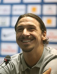The Impossible Missionaries Saint-Germani's Zlatan Ibrahimovic smiles during a Press conference in Doha.