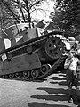 Zsákmányolt szovjet gyártmányú T-28 közepes harckocsi az 1942. évi Nemzetközi Vásáron. Fortepan 54161.jpg