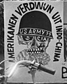"""AMERIKANEN VERDWUN UIT INDO-CHINA"" ""US ARMY"" ""CIA"" anti-war art detail, from- Tentoonstelling over Indo China tegen Amerikanen in Indo China op Rembrandtspl, Bestanddeelnr 923-5763 (cropped).jpg"