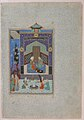 """Bahram Gur in the Turquoise Palace on Wednesday"", Folio 216 from a Khamsa (Quintet) of Nizami MET sf13-228-7-10b.jpg"