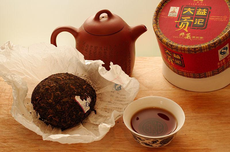 """File:""""Da Yi Gong Tuo"""" Pu-erh shou cha, 2010.jpg"""