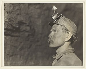 Coal Region - Welsh Miner in Pennsylvania Coal Mine in 1910
