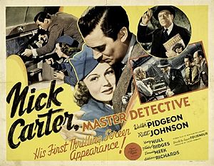 Nick Carter, Master Detective (film) - Half sheet theatrical poster