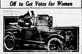 """Off to Get Votes for Women"" from the Evening Herald in Klamath Falls, Orgeon, May 27, 1916.jpg"