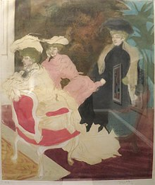 Comedy of Society, color etching and aquatint (1903), Jacques Villon