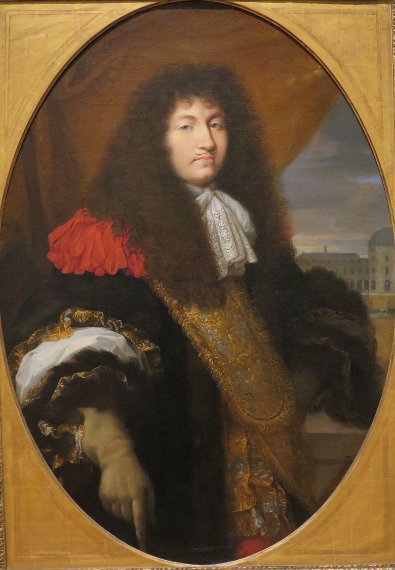 'Людовик ХIV, король Франции, в передней части замка Тюильри', 1662, последователь Шарля Ле Brun.JPG