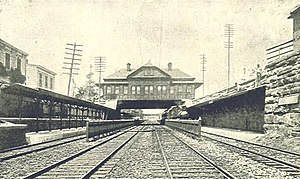 Morrisania (NYC station) - An 1893 view of Morrisania Station of the New York Central Railroad