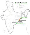 (Visakhapatnam - Shalimar) Express Route map.jpg