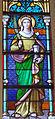 Église Saint-Nicolas, L'Hôpital, vitrail Sainte Barbe.jpg