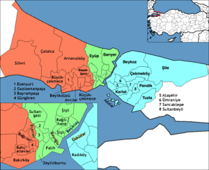 İstanbul (electoral districts) - Image: İstanbul electoral districts