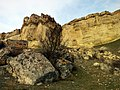 Ак Кая - Белая скала, Обрывы, вид снизу.jpg