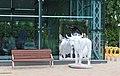 Вентспилс Латвия Корова у зеркала (возле здания морского вокзала) - panoramio.jpg