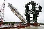 Вывоз и установка ракеты космического назначения «Ангара-1.2ПП» на стартовом комплексе космодрома Плесецк 11.jpg