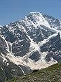 """Ледник """"Семёрка""""на горе Донгузорун, вид с горы Чегет, Приэльбрусье, июль 2008 - panoramio.jpg"""