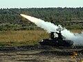 Пуск ракеты ЗРК Оса на полигоне Доманово (Беларусь).jpg