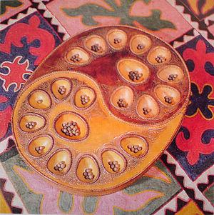 Toguz korgol - Souvenir wood board for Toguz korgool game