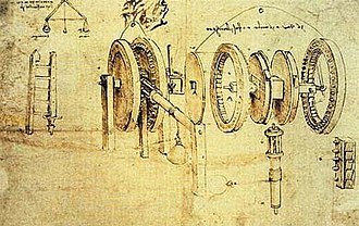 Exploded-view drawing - Exploded view by Leonardo da Vinci