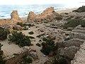 חצר פנימי מצודת אשדוד מראה ממגדל.JPG