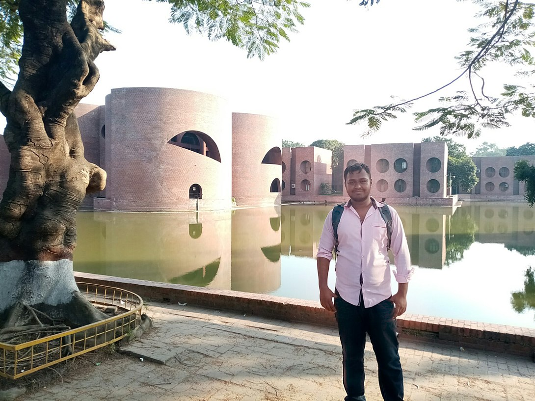 I am in front of the Bangladesh National Parliament Building