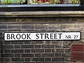 -2019-11-27 Street name sign, Brook Street, Cromer.JPG