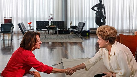 Suspended president Dilma Rousseff during an interview with Al Jazeera at the Alvorada Palace, 1 June 2016. 01062016- 89A3476-Editar (27244602030).jpg