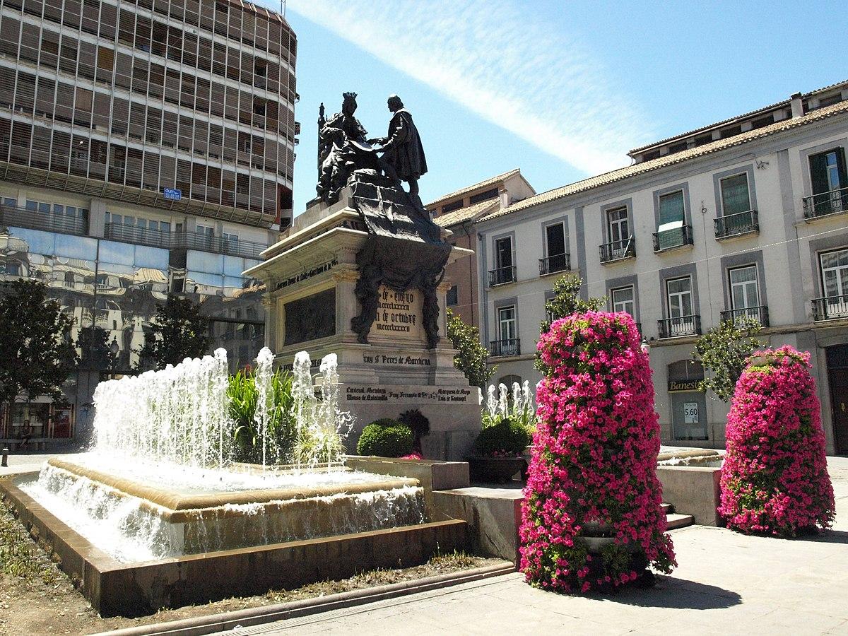 Plaza de isabel la cat lica granada wikipedia la for Los jardines de la cartuja