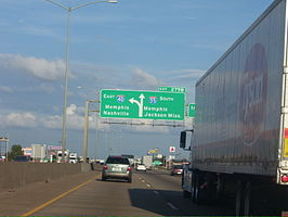 Interstate 55 bij Memphis