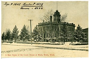 Walla Walla County, Washington - Image: 08444 Walla Walla 1906 A Rare Scene of the Court House Brück & Sohn Kunstverlag