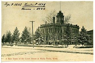 Walla Walla County, Washington - Image: 08444 Walla Walla 1906 A Rare Scene of the Court House Brück & Sohn Kunstverlag