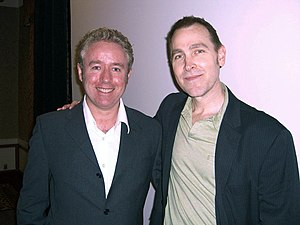 Mark Millar - Millar and his Wanted collaborator J. G. Jones at the Big Apple Convention, 2 October 2010