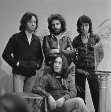 10cc in 1974 (clockwise, from top left): Eric Stewart, Kevin Godley, Graham Gouldman, Lol Creme