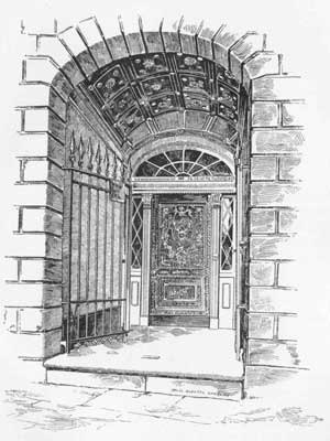 Delphine LaLaurie - An artist's depiction of the entryway to 1140 Royal Street, c. 1888