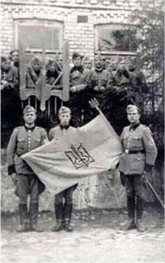 Ukrainian Auxiliary Police - Ukrainian Schutzmannschaft battalion photographed in 1942