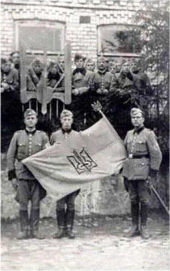 Ukrainian Schutzmannschaft battalion photographed in 1942 115th Battalion of Ukrainian Shuma 1943.jpg