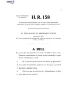 116th United States Congress H. R. 0000158 (1st session) - Rehabilitation of Historic Schools Act of 2019.pdf