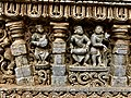13th century Keshava Hindu temple relief with membranophone and idiophone musical instruments, Somanathpur India.jpg