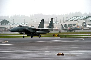 Portland Air National Guard Base - 142d FW F-15 Eagles at Portland ANGB