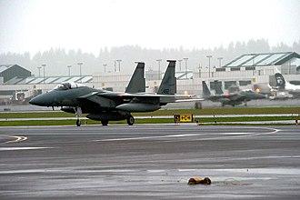 Portland Air National Guard Base - 142d FW F-15 Eagles at Portland ANGB