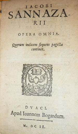 Jacopo Sannazaro - An edition of Sannazaro's collected works, printed in 1602