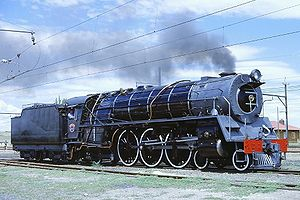 South African Class 16E 4-6-2 - No. 858 Betty at Vetrivier, 5 November 1979
